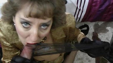 Black nylon cum