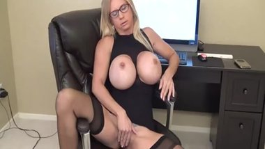 Big Breasted MILF Pleasuring her Wet Pussy