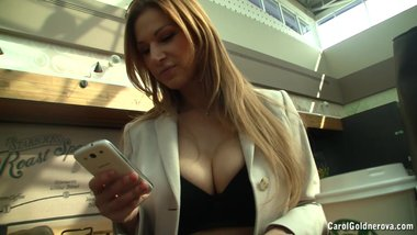 Busty secretary Carol Goldnerova