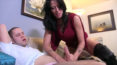 Hard Working Guy Came Home To Notice That His Step Mom Wants To Fuck Him