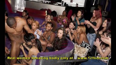 Amazing Footage Of Women Sucking Strippers At Ladies Night