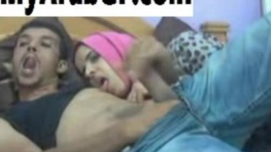 Arab MILF giving head to her BF