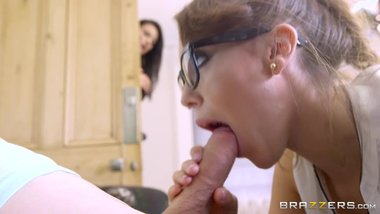 Brazzers - Mom and stepdaughter share young boy