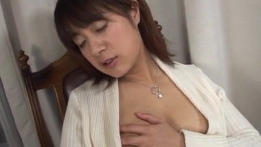 Shinobu Mizushima with melon sized jugs masturbating wildly