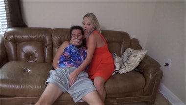 Cock Teased And Gagged By Stepmom