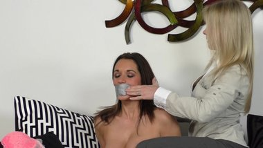 Claire Irons Tapes Up & Gags Nude Beauty