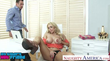Busty blonde Alix Lynx prowls on her friend's brother - Naughty America