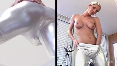 Energists - Ms.Plyer - Sexy MILF in Silver Outfit