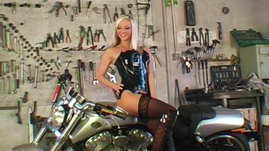 Energists - Ms.Plyer - Blonde MILF Posing on a Bike