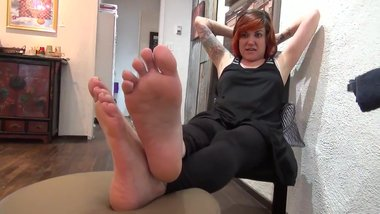 Milf redhead with soft soles
