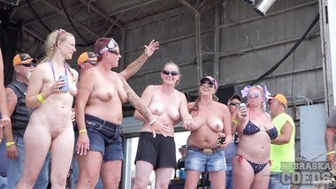 Big'uns Wet T Contest 1st Day Abate of Iowa Freedom Biker Rally