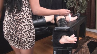 milf k tickle torture on the rack