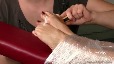 milf nina sexy feet tickled and mummfied
