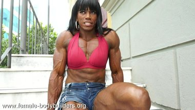 Carla Maria the horny veiny ebony Muscle slut