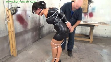 Milf Gigi ziptied gagged