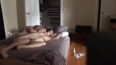 Lazy afternoon fucking brunette milf