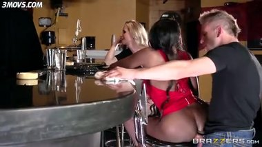 Dirty black milf Diamond Jackson fucking in the bar