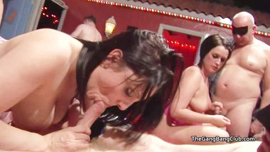 Nice natural tits amateurs at a British sex club