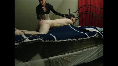 Incredibly Hot Wife Spanks Submissive Husband