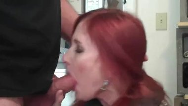 Redhot Redhead Show (4 Blowjob Close-Ups)