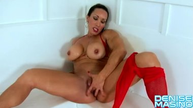 Denise Masino - Red White and Fishnet