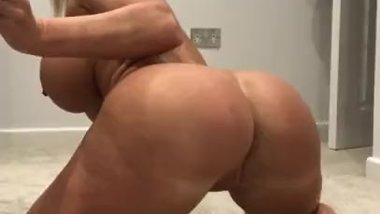 Big round naked ass gyrates
