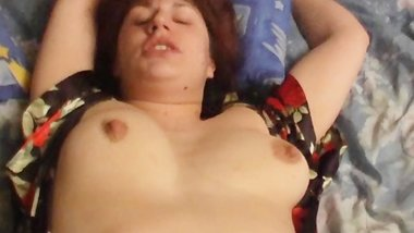 Busty MILF fucked at home